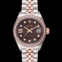 Rolex Rose gold Automatic Brown new Lady-Datejust