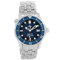 Omega Seamaster Midsize 36mm Blue Wave Dial Unisex Watch...