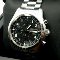 Hamilton Chronograf 42mm Automatyczny 2010 używany Khaki Field Czarny