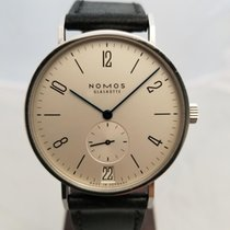 NOMOS Tangente 38 Datum pre-owned 38mm Date Leather