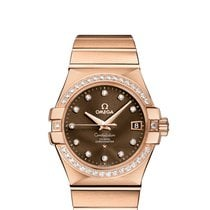 Omega Red gold Brown new Constellation Ladies