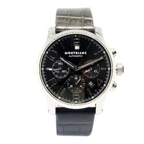 Montblanc Timewalker Steel 43mm Black Arabic numerals