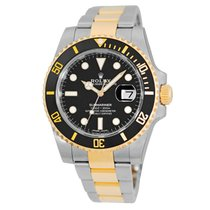 Rolex Ceramic Automatic Black 40mm pre-owned Submariner Date