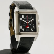 Jaeger-LeCoultre Reverso Squadra World Chronograph Titanium 36mm Black Arabic numerals
