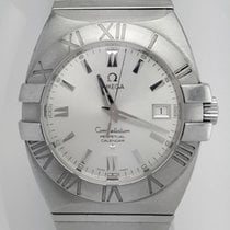 Omega Constellation Double Eagle Steel 39.5mm Silver Arabic numerals United States of America, New York, New York