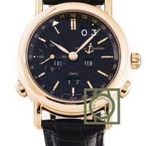 Ulysse Nardin GMT Perpetual Calendar Pink Gold 38.5mm Black...