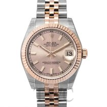 Rolex Lady-Datejust Rose gold 31mm Silver