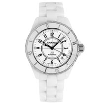 Chanel J12 Ceramic 38mm White Arabic numerals