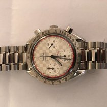 Omega Speedmaster Reduced Acero 39mm Plata Sin cifras