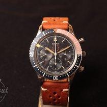 Bulova Chronograph 43mm Handaufzug 1970 gebraucht Marine Star