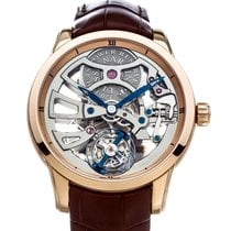 Ulysse Nardin Classic Skeleton Tourbillon Rose gold 44mm Transparent