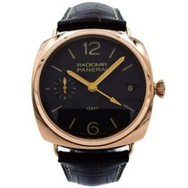 Panerai Radiomir 3 Days GMT Rose gold 47mm Black