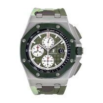 Audemars Piguet Royal Oak Offshore Chronograph Steel 44mm Green No numerals United States of America, New York, New York
