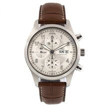 IWC Pilot Spitfire Chronograph Staal 42mm Wit Arabisch