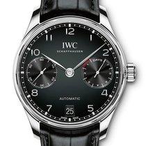 IWC Steel Automatic Black Arabic numerals 42,3mm new Portuguese Automatic