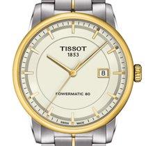 Tissot Luxury Automatic Acier 41mm Champagne Sans chiffres