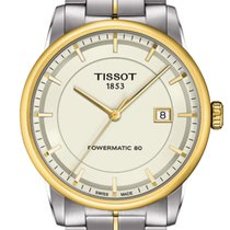 Tissot Luxury Automatic Zeljezo 41mm Boja šampanjca Bez brojeva