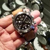 帝陀 (Tudor) 79350 Leather Strap Heritage Black Bay Chrono 41mm