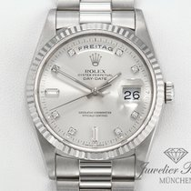 Rolex Daydate Weissgold 750 Diamanten 18239 Automatik Day Date