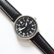 Aristo Steel Automatic Black Arabic numerals 42mm new Beobachter