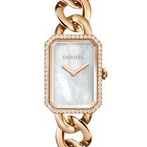 Chanel Rose gold Quartz Mother of pearl 20mm new Première