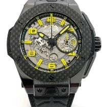 Hublot Big Bang Ferrari gebraucht 45mm Transparent Chronograph Datum Leder