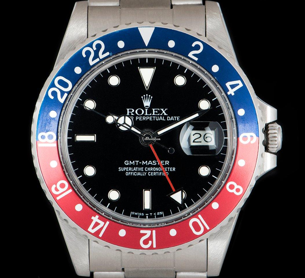 cc51dfba9eb Rolex GMT-Master Aço - Todos os preços de relógios Rolex GMT-Master Aço na  Chrono24