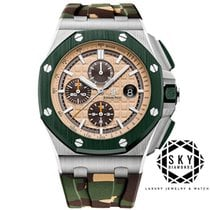 Audemars Piguet Royal Oak Offshore Chronograph Steel 44mm Champagne No numerals United States of America, New York, NEW YORK