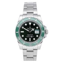 Rolex Submariner Date pre-owned 40mm Green Date Fold clasp