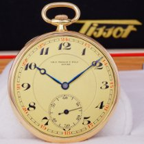 天梭 TISSOT pocket watch gold 14k 非常好 黃金 49mm 手動發條