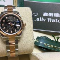 Rolex Cally - 179161 26mm Datejust Lady Black Diamond Jubilee...