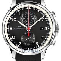 IWC Portuguese Yacht Club Chronograph Steel 45.4mm Black United States of America, New York, Airmont