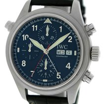IWC Pilot's Spitfire Doppelchronograph, Black Dial - Stainless...