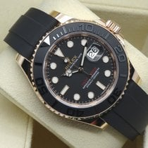Rolex Yachtmaster Rose Gold Rubber 40mm 5 Years Garantee
