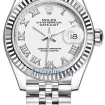 Rolex Lady-Datejust Сталь 28mm Белый