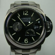 Panerai 44mm Automatic 2007 pre-owned Luminor Power Reserve Black