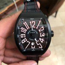 Franck Muller Vanguard Titanium Case Black Dial Black Inner...