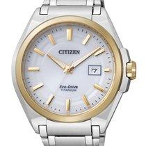 Citizen Titanium 42mm White No numerals