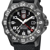 Luminox F-117 Nighthawk Steel 44mm Black Arabic numerals