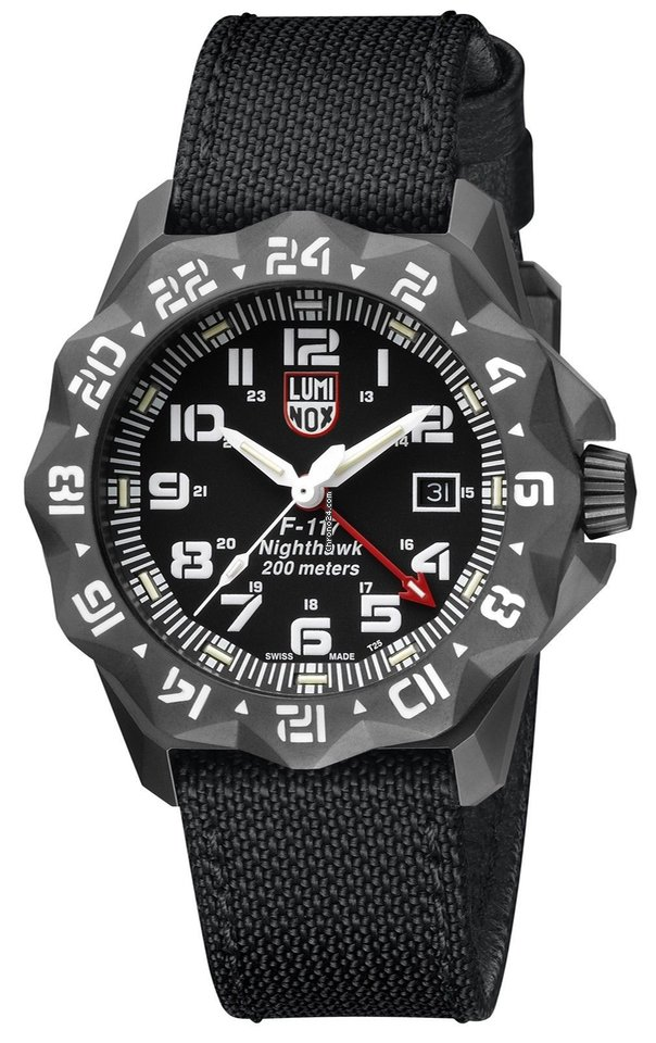 le dernier 3dccc 755d3 Luminox XA.6421 F-117 Nighthawk 6400 Series GMT