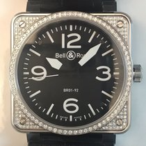 Bell & Ross Automatic Diamonds 46mm Watch Box/Papers MINT