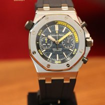 Audemars Piguet Steel Automatic pre-owned Royal Oak Offshore Diver Chronograph