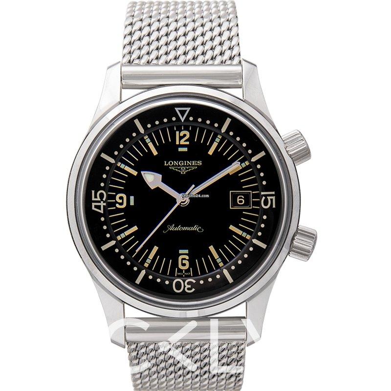 Longines The Longines Legend Diver Watch Black Steel 42mm -... eladó 570  874 Ft Trusted Seller státuszú eladótól a Chrono24-en 275d01c479