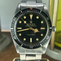 Rolex Submariner Steel 36mm Black No numerals