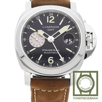 Panerai Luminor GMT Automatic Staal 44mm Zwart Arabisch