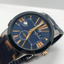 Ulysse Nardin Executive Dual Time Steel 43mm Black Roman numerals