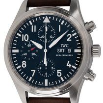IWC Pilot Chronograph pre-owned 42mm Black Chronograph Date Weekday Buckle