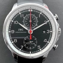 IWC Portuguese Yacht Club Chronograph Steel 45mm Black Arabic numerals United States of America, Florida, Aventura