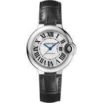 Cartier Ballon Bleu 33mm Stainless Steel Watch on Leather Strap