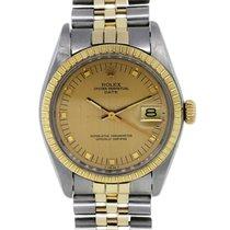 Rolex Date 1505 Rare Midsize Two Tone Mens Watch